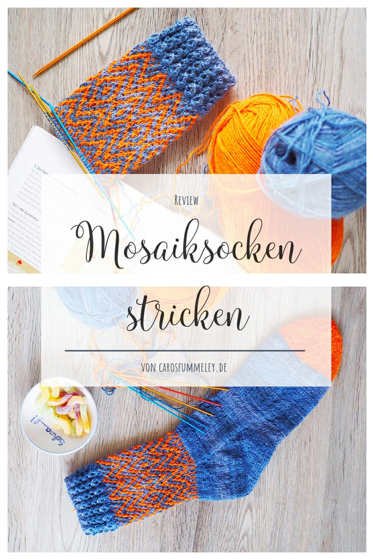 Mosaiksocken stricken Sylvie Rasch Rezension1