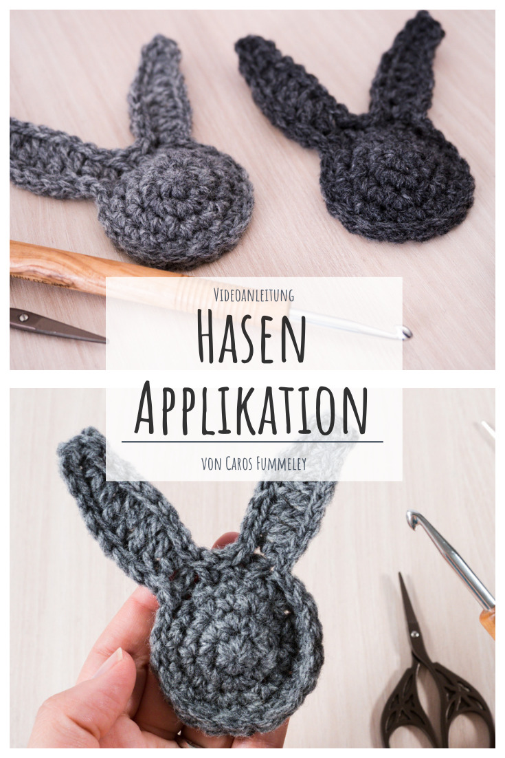 Hasen-Applikation häkeln